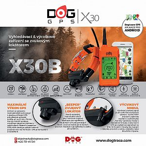Tracking system with beeper collar DOG GPS X30B